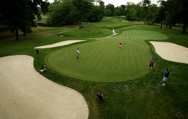 Hole No. 9 during the Round of 32 at the 112th U. S. Women's Amateur Championship at The Country Club in Cleveland. Both Rounds of 32 and 16 will be played on Thursday.