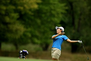 Hyo-Joo Kim defeated Isabelle Lendl, 2&1, during the Round of 32 at the 112th U. S. Women's Amateur Championship.