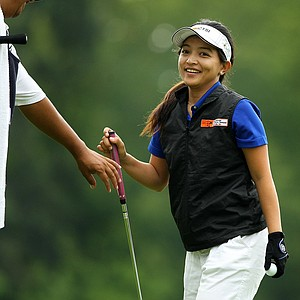Jayvie Marie Agojo defeated Natalie Gleadall 1 up during the Round of 32 at the 112th U. S. Women's Amateur Championship.
