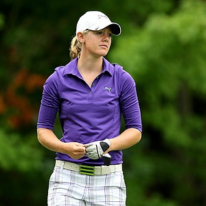Amy Anderson during the Round of 32 at the 112th U. S. Women's Amateur Championship. Anderson lost to Lydia Ko.