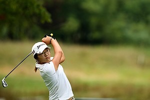 Lydia Ko during the Round of 32 at the 112th U. S. Women's Amateur Championship.