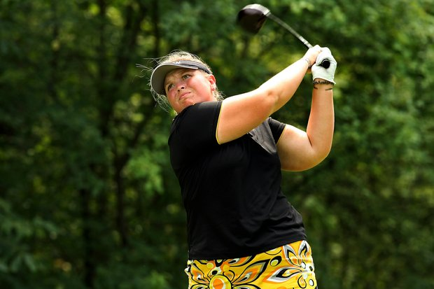 Ashlee Dewhurst of Australia during the Round of 32 at the 112th U. S. Women's Amateur Championship.