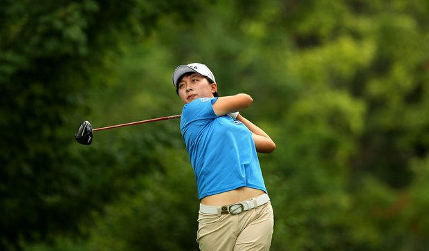 Stroke play medalist Hyo-Joo Kim during the Round of 16 at the 112th U. S. Women's Amateur Championship.