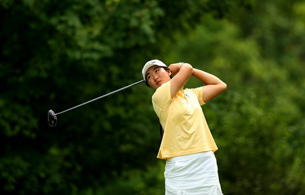 Su-Hyon Oh of Australia during the Round of 16 at the 112th U. S. Women's Amateur Championship.