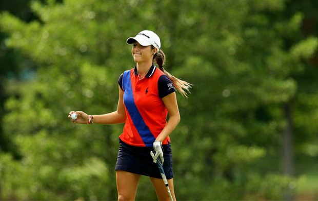 Jaye Marie Green during the Round of 16 at the 112th U. S. Women's Amateur Championship.