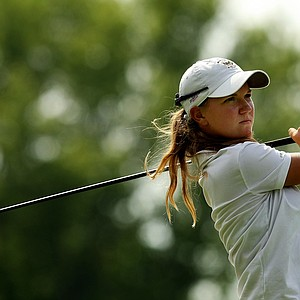 Austin Ernst during the Round of 16 at the 112th U. S. Women's Amateur Championship. Ernst was competing agains Erynne Lee during the Round of 16.