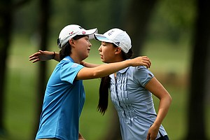 Hyo-Joo Kim was defeated by Nicole Zhang 1 up during the Round of 16 at the 112th U. S. Women's Amateur Championship.