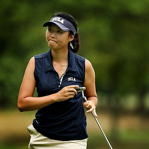 Erynne Lee during the Round of 16 at the 112th U. S. Women's Amateur Championship. Lee defeated Austin Ernst to advance to the quarterfinals.