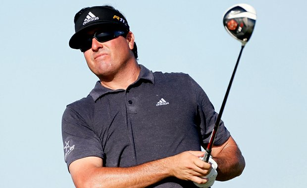 Pat Perez hits off the 15th tee during Round One of the 94th PGA Championship at the Ocean Course on August 9, 2012 in Kiawah Island, S.C.
