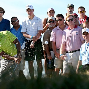 Tiger Woods of the United States hits a shot on the 13th hole during Round One of the 94th PGA Championship at the Ocean Course on August 9, 2012 in Kiawah Island, South Carolina.