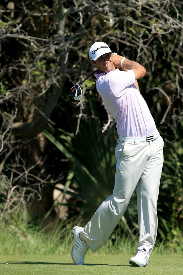 Dustin Johnson fired a 1-under 71 on Thursday at the PGA Championship.