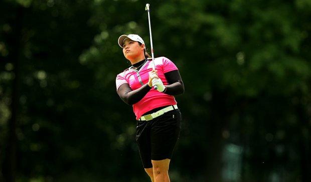 Ariya Jutanugarn during the quarterfinals at the 112th U. S. Women's Amateur Championship. Jutanugarn defeated Erynne Lee, 5&4.