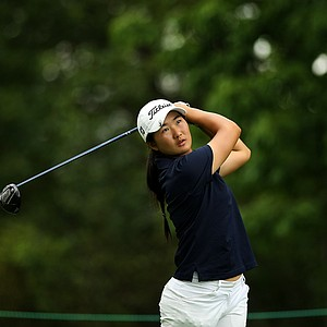 Su-Hyon Oh of Australia during the quarterfinals at the 112th U. S. Women's Amateur Championship. Oh lost to Nicole Zhang.
