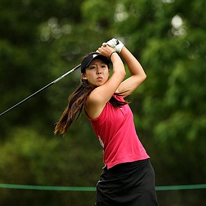 Nicole Zhang, 20, of Canada during the quarterfinals at the 112th U. S. Women's Amateur Championship.