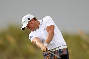 Jamie Donaldson hits off the sixth tee during Round Two of the 94th PGA Championship at the Ocean Course on August 10, 2012 in Kiawah Island, S.C.