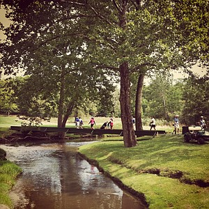 Golfers make their way to No. 2 during the quarterfinals at the 112th U. S. Women's Amateur Championship.