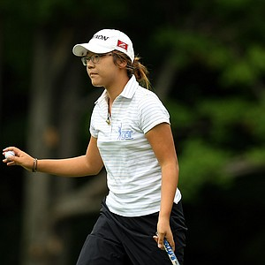 Lydia Ko of New Zealand defeated Ariya Jutanugarn of Thailand, 3&1 during the semifinals at the 112th U. S. Women's Amateur Championship. Ko will face Jaye Marie Green.
