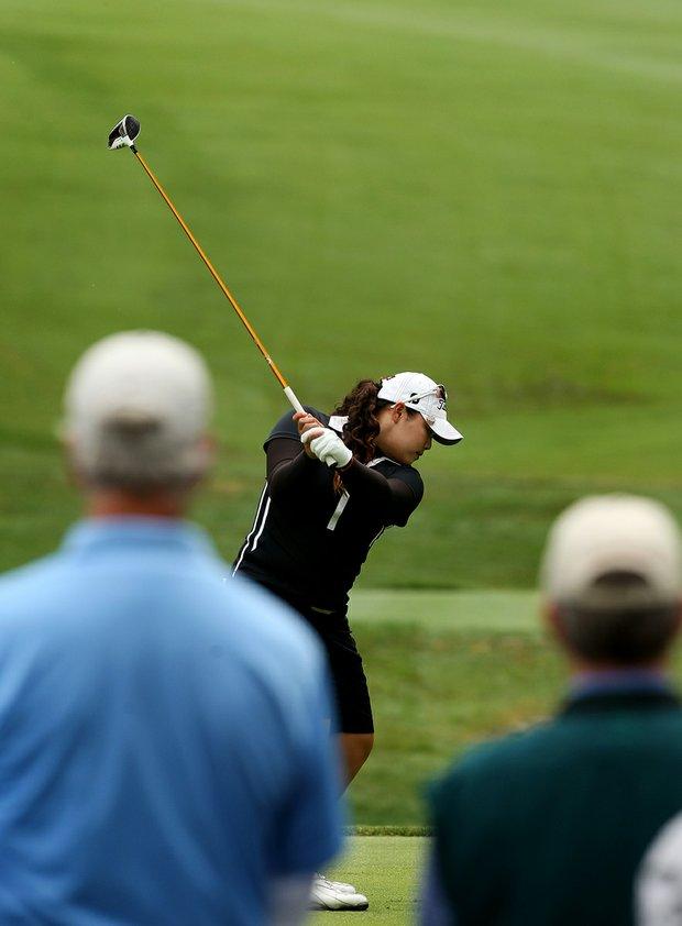Ariya Jutanugarn at No. 6 during the semifinals at the 112th U. S. Women's Amateur Championship.