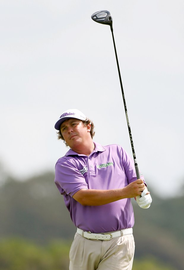 Jason Dufner hits off the 11th tee during Round Three of the 94th PGA Championship at the Ocean Course on August 11, 2012 in Kiawah Island, S.C.