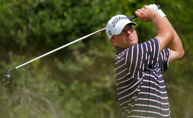 Steve Stricker hits off the second tee during Round Three of the 94th PGA Championship at the Ocean Course on August 11, 2012 in Kiawah Island, South Carolina.