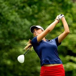 Jaye Marie Green hits her tee shot at No. 2 on the second round during the finals at the 112th U. S. Women's Amateur Championship.