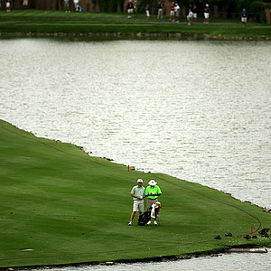 John Varol of Charlotte, N.C. at No. 18 during the 112th U. S. Amateur Championship at Cherry Hills Country Club.