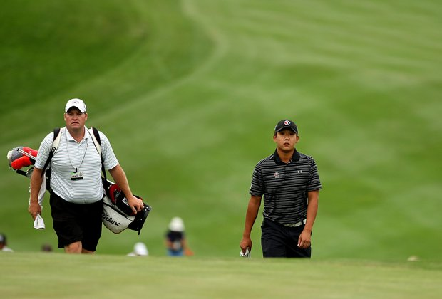 Albin Choi of Canada at No. 18 during the 112th U. S. Amateur Championship at Cherry Hills Country Club in Colorado.