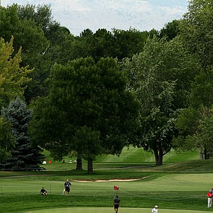 A view of No. 1 during the 112th U. S. Amateur Championship at Cherry Hills Country Club in Colorado. The hole that Arnold Palmer drove the green in the final round of the 1960 U. S. Open.