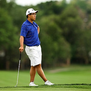 Jim Liu, the 2010 U. S. Junior Champion, waits at No. 18 during the 112th U. S. Amateur Championship at Cherry Hills Country Club in Colorado.