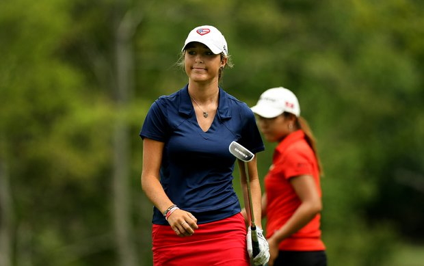 Jaye Marie Green of Boca Raton, Fla., during the finals at the 112th U. S. Women's Amateur Championship.