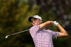 Justin Thomas during the Round of 64 at the 112th U. S. Amateur Championship at Cherry Hills Country Club.