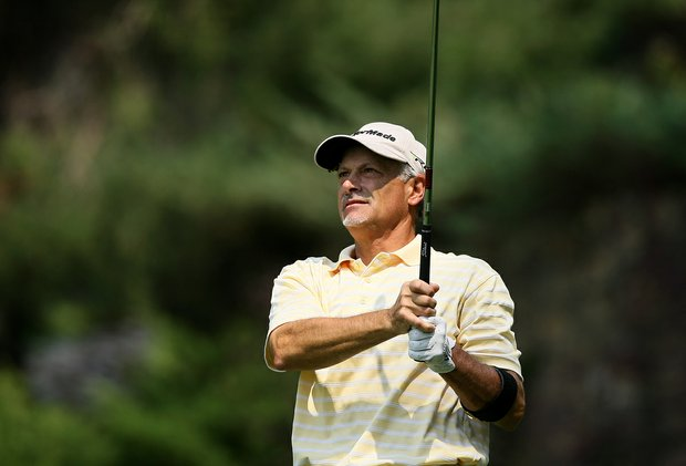 Doug Hanzel, 55, advanced to the Round of 32 after defeating Andrew Biggadike during the Round of 64 at the 112th U. S. Amateur Championship at Cherry Hills.