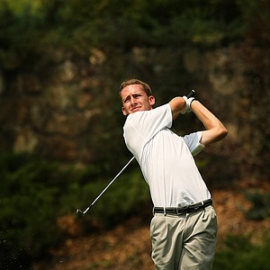 Peter Williamson during the Round of 64 at the 112th U. S. Amateur Championship at Cherry Hills. Williamson lost to Chris Williams.