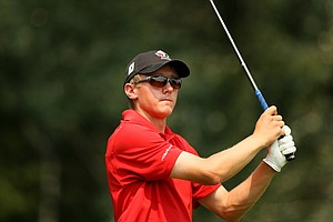 Mackenzie Hughes of Canada during the Round of 64 at the 112th U. S. Amateur Championship.