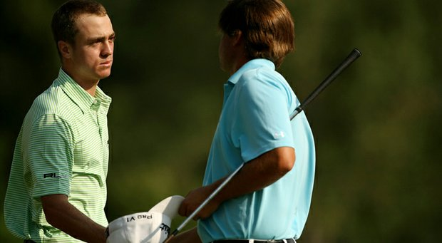 Justin Thomas defeated his Alabama teammate Bobby Wyatt during the Round of 16 at the 112th U. S. Amateur Championship at Cherry Hills Country Club.