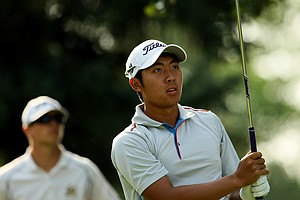 Cheng-Tsung Pan during the quarterfinals of the 112th U. S. Amateur Championship at Cherry Hills Country Club in Colorado.