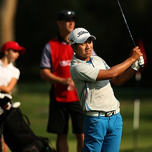 Cheng-Tseng Pan during the quarterfinals of the 112th U. S. Amateur Championship at Cherry Hills Country Club in Colorado. Pan lost to Brandon Hagy, 4&3.