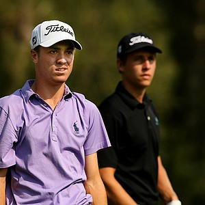 Justin Thomas during the quarterfinals of the 112th U. S. Amateur Championship at Cherry Hills Country Club in Colorado.