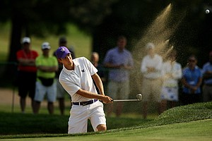 Chris Williams during the quarterfinals of the 112th U. S. Amateur Championship at Cherry Hills Country Club in Colorado. Williams lost to Steven Fox.
