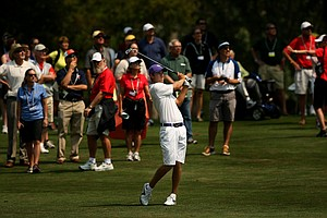 Chris Williams at No. 16, his last hole, during the quarterfinals of the 112th U. S. Amateur Championship at Cherry Hills Country Club in Colorado.