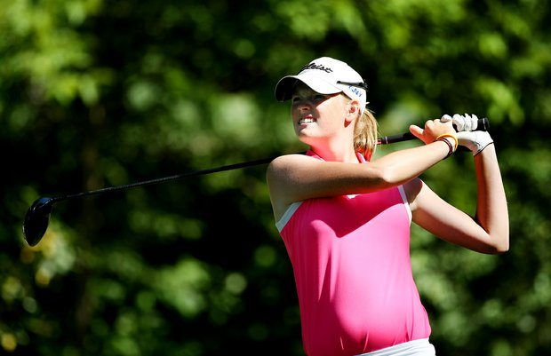Lauren Taylor during the second round of stroke play at the 2012 U. S. Women's Amateur Championship at The Country Club in Cleveland.