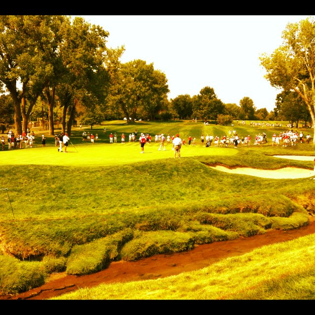 A viw of No. 15 during the quarterfinals of the 112th U. S. Amateur Championship at Cherry Hills Country Club in Colorado.