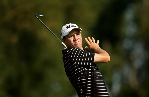 Justin Thomas during the semifinals of the 112th U. S. Amateur Championship at Cherry Hills Country Club in Cherry Hills Village, Colo.