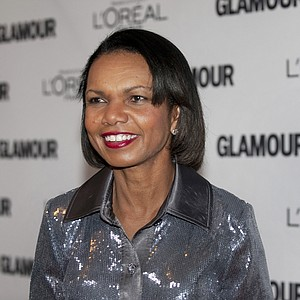 Condoleezza Rice arrives at Glamour Magazine's 21st annual Women of the Year Awards November 7, 2011 at Carnegie Hall in New York.