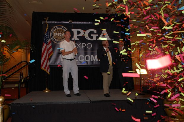 Hank Haney helped kick off the PGA Expo in Las Vegas, Nev. on Tuesday, Aug. 21, 2012.