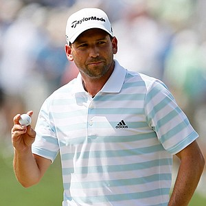 Sergio Garcia during the third round of the Barclays.