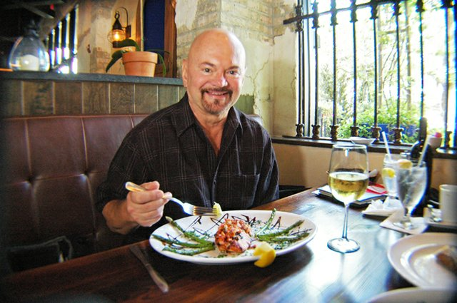 Observer food critic Josh Garrick tries Francesco&#39;s salmon bruschetta at the Maitland restaurant. 