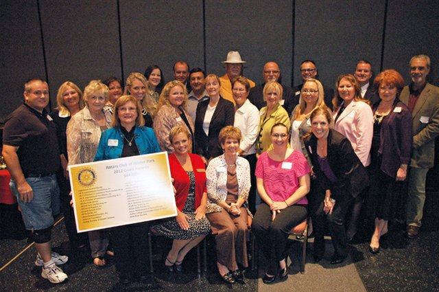 Recipients of grants from the Winter Park Rotary Club gathered together at the club's meeting Aug. 27.