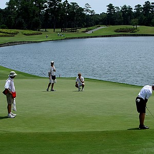No. 18 green during the final round of the TPC Junior Players at TPC Sawgrass The Players Stadium.