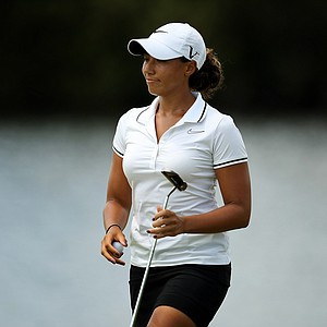 Cheyenne Woods during the first day of LPGA Qualifying School at LPGA International's Champions course. Woods posted a 77.